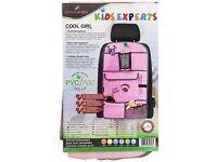 New Unopened - Walser Cool Girl Children's Car Organiser, Seat Back Bag, Pink
