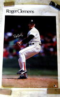 Roger Clemens Boston Red Sox Hand Signed Poster