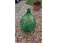 LARGE 54 LITRE GLASS CARBOYS OR DEMIJOHNS. IDEAL FOR WINEMAKING CIDER BREWING.