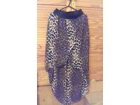 Leaprd print skirt