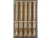 Beautiful Encyclopaedia Britannica Year Books 1979-1983