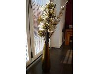 Vase Metallic green / gold