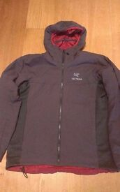 Arcteryx Mens Atom LT Hoody Jacket Carbon Large