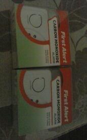 brand new carbon monoxide alarm x2