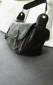 Beautiful black real leather handbag
