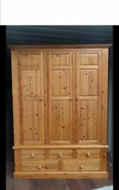 Quality Made Solid Pine Wardrobe,Excellent Condition,We Can Deliver