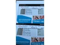 Two pink tickets for sale New York at Maddison square garden