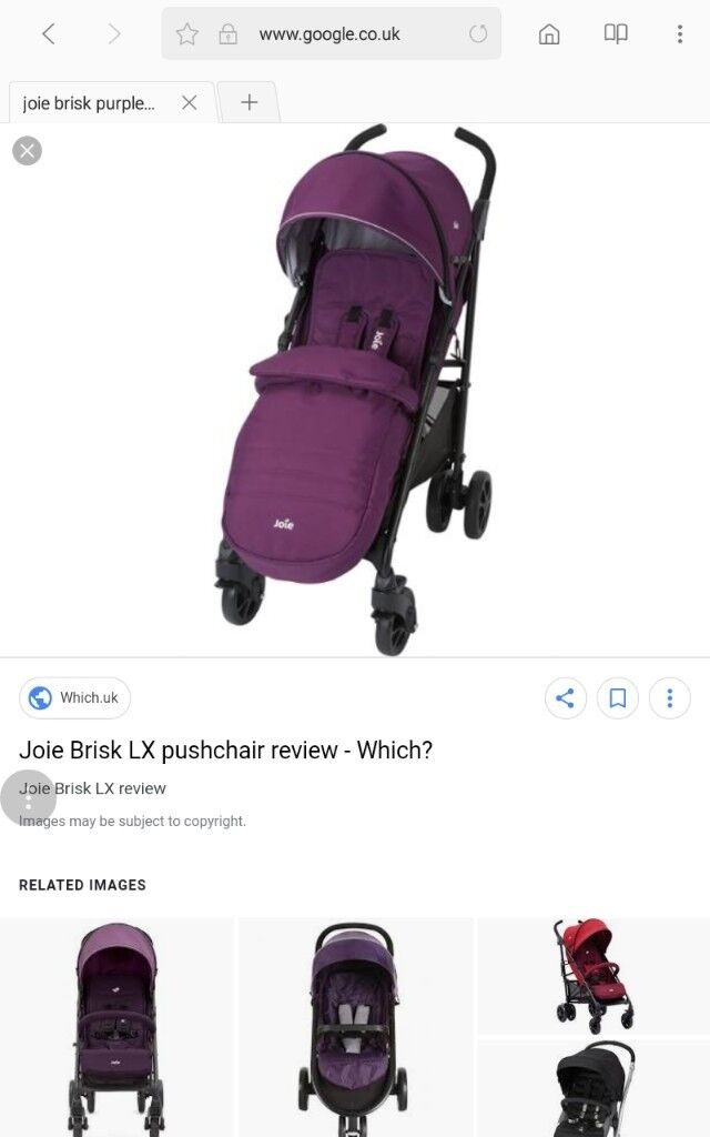 Joie brisk buggy for sale