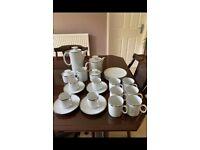 Thomas bone china silver rim tea and coffee set