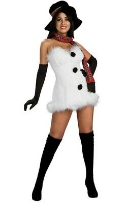 Womens Adult Sexy Christmas Frostbite White Snow Costume Outfit](Christmas Outfits For Women)