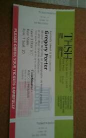 Gregory Porter concert tickets x 2 SOLD
