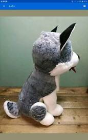 Giant wolf soft plush Valentine's or birthday gift for him/her