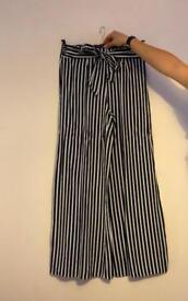 Miss Selfridge Stripped Wide Legged Trousers