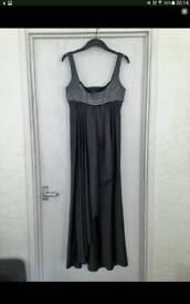 Womens size 12 metallic grey Amanda Wakeley Bridesmaid dress