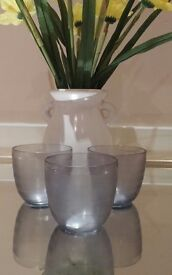 Job Lot 192 x Brushed Smoked Glass Tea Light Candle Holders