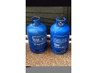 Calor gas botlle blue 15kg with or without gas, cash waiting must be in Fife