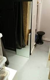 Free mirror with drilled holes