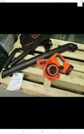 Black decker cordless garden blower 36v gwc3600