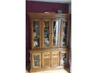Dresser Display Cabinet Glazed Bookcase Sideboard French Country Shabby Chic