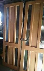Oak Pair 26 half inch doors