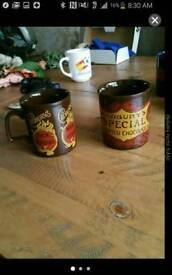 Caburys kiln vintage mugs