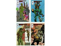 SGT. SMOKING BLACK #2,3,4,5 SIGNED BY CREATOR, WRITER AND ARTIST DEMUZ NEW MINT.