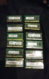 24GB 12 x 2GB DDR3 204 pin SODIMM laptop ram