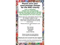 Please help me collect used postage stamps for charity