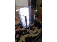 Tv hi fi stand glass and chrome