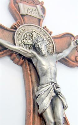 MRT St Benedict LARGE Wall Crucifix Home Protector Catholic Exorcism Saint Gift