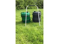 Black and Green Aquaroll Water Carriers