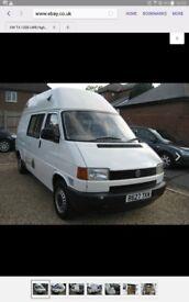 vw high top, lwb, t4 ideal camper van conversation