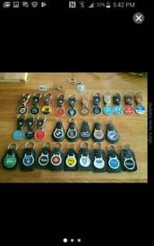 Vintage key ring collection rare/collectable