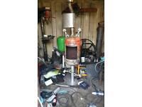 Stainless steal back box burner