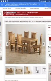 6 table and chairs beautiful solid wood