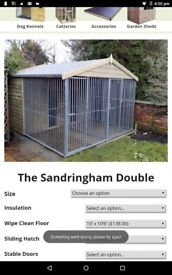 Double dog kennel and runs also have single kennel and run