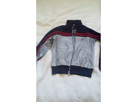 Silver Zip-up Top Jacket size M