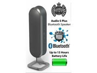 Ministry of Sound Audio S Plus Wireless Bluetooth Speaker - Charcoal/Gun Metal BNIB