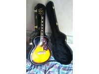 Epiphone EJ200 acoustic guitar and kinsman Hard case