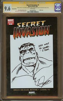 Hulk & Fing Fang Foom Sketch Cover By Steve Scott CGC 9.6 Graded Front/Back ()