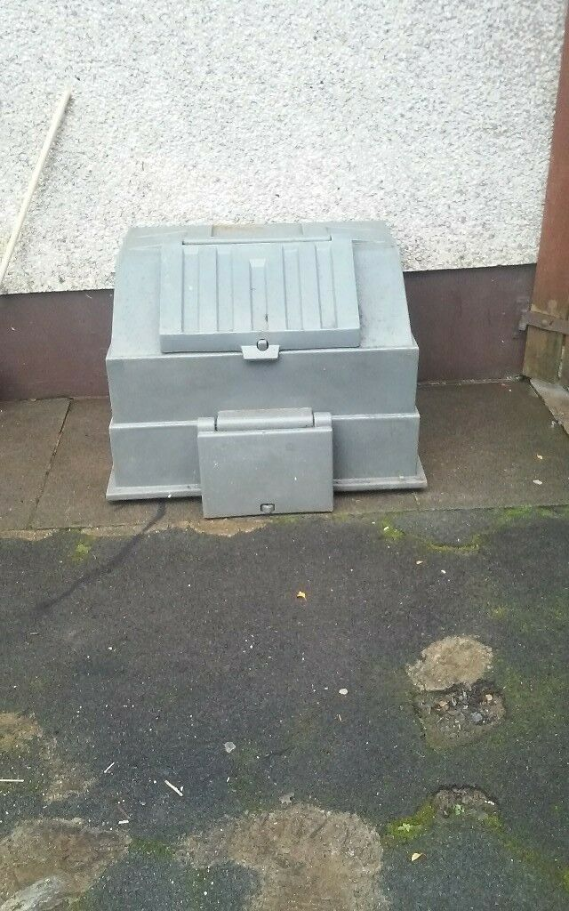 Large grey coal bunker