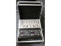 DJ Console - twin Denon CD Controller, 7 ch mixer all in Flightcase