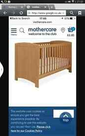 mothercare torrington cotbed and changing unit