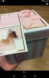 Pink box full of fudge