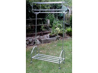 clothes rail with shelf or for car boot sale