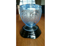 vintage Art Deco Bagley Glass Posy Bowl with frog & original stand excellent condition