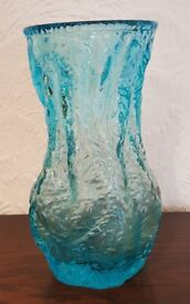 Vintage Crystal Blue Vase