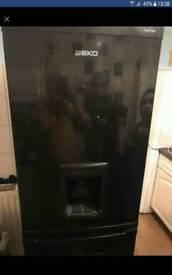 Black beko fridge freezer free delivery