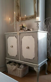 Shabby Chic Style Cabinet Hand Painted In Annie Sloan, Free Delivery Within 50 miles!