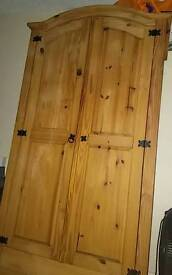 Wooden cupboard for clothes etc